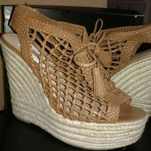 INC International Concepts Tan Wedge Sandal, 8.5